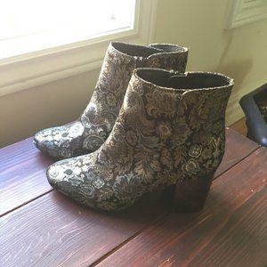 ALDO metallic floral boots